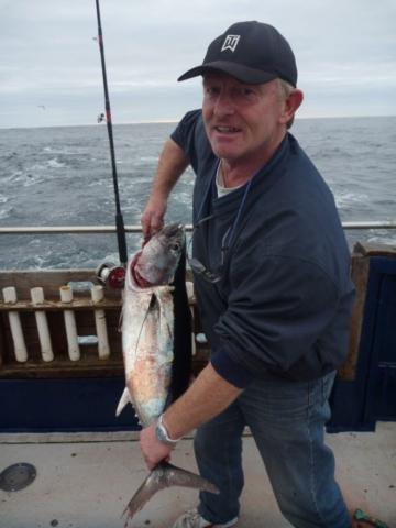 Skipper Rory O'Connor with an Albacore Tuna
